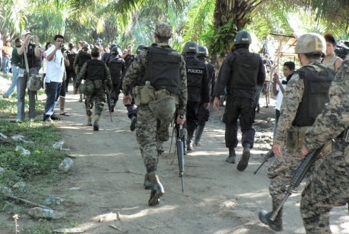 Militarization of the Lower Aguán  © (Foto G. Trucchi)